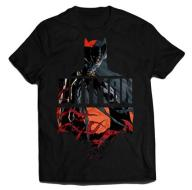 T-Shirt Red Batman M