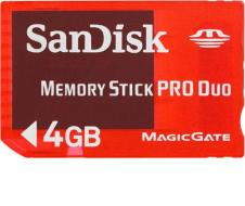 Sandisk Memory Stick Pro Duo Gaming 4GB