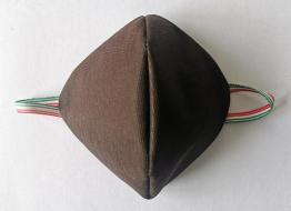 Mascherine Cotone/Pol.(NO DPI) Brown 5pz