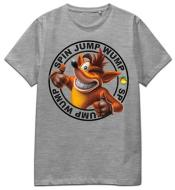 T-Shirt Crash Spin Jump Wump (Grey) S