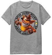 T-Shirt Crash Spin Jump Wump (Grey) 2XL