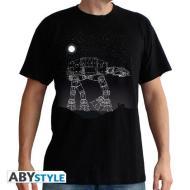 T-Shirt Star Wars - AT-AT Stars L