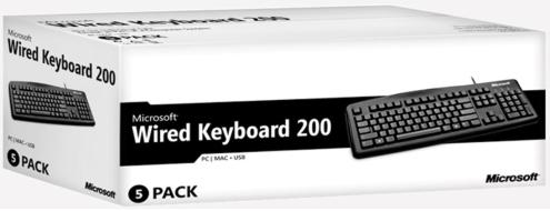 MS Wired keyboard 200 for business