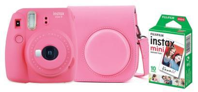 FUJIFILM Fotoc.Instax MINI9 PINK+10+CASE