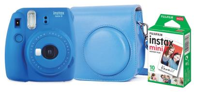 FUJIFILM Fotoc.Instax MINI9 BLUE+10+CASE