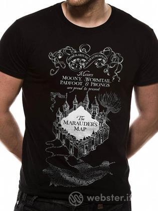 T-Shirt Harry Potter-Mappa Malandrino-L