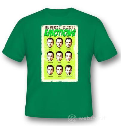 T-Shirt Big Bang Theory Sheldon Emot. XL