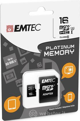 MicroSD + Adapter 16GB Plat (Full HD)
