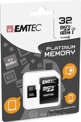 MicroSD + Adapter 32GB Plat (Full HD)