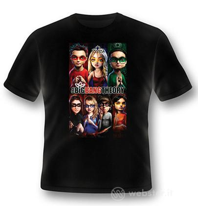 T-Shirt Big Bang Theory Superhero S