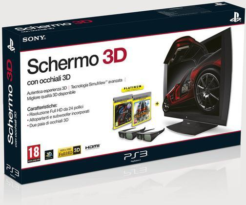 Schermo 3D+Killzone 3 PLT+GT5+2 Occhiali