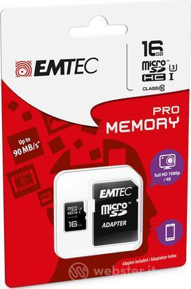 MicroSD + Adapter 16GB Pro (3D - 4K)
