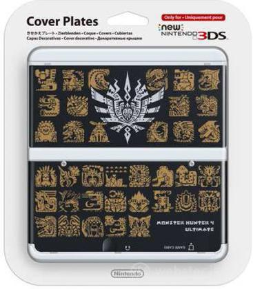 Nintendo New 3DS Cover M.Hunter 4 Nero