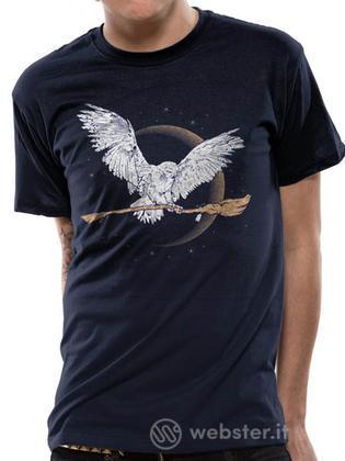 T-Shirt Harry Potter-Edwige+Scopa-S