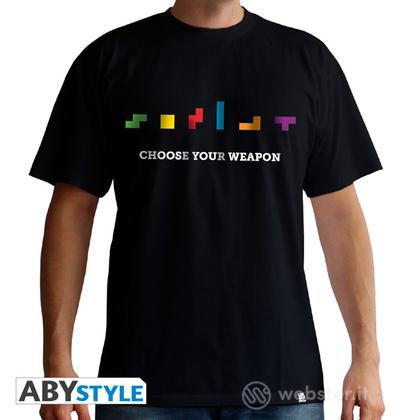 T-Shirt Tetris Choose Your Weapon L