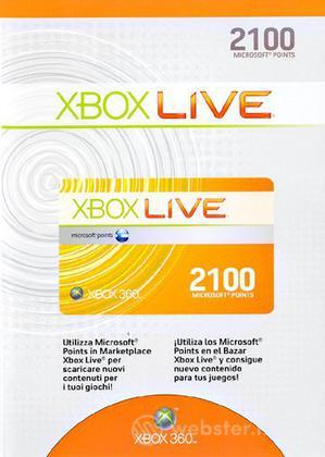 MICROSOFT X360 - Live 2100pt Card