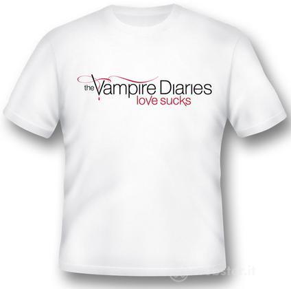 T-Shirt Vampire Diaries Love Sucks XL