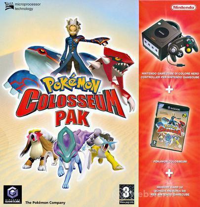 Game Cube Nero Pokemon Colosseum New Pak