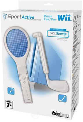BB Racchetta Tennis + Mazza Golf Wii