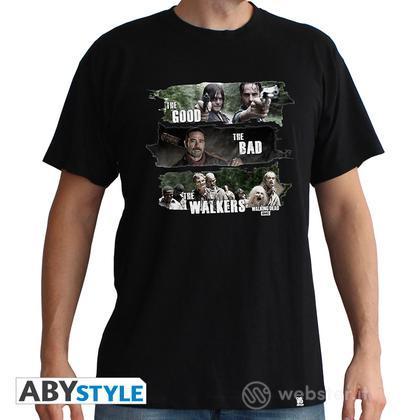T-Shirt Walking Dead-Good,Bad,Walkers M