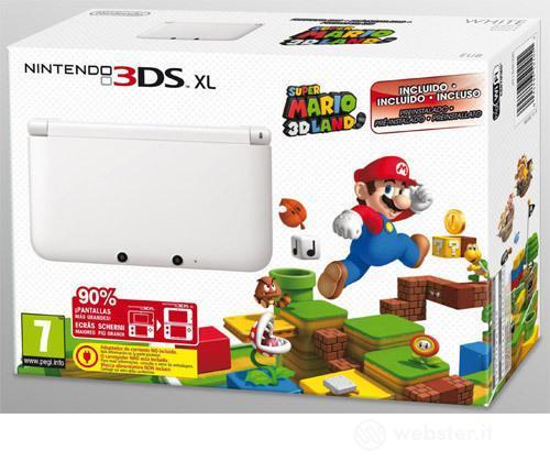 Nintendo 3DS XL White+SuperMario 3D Land