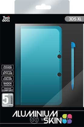 TWO DOTS Cover Alluminio Blu 3DS XL