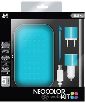 TWO DOTS Kit Color Blu 3DS XL