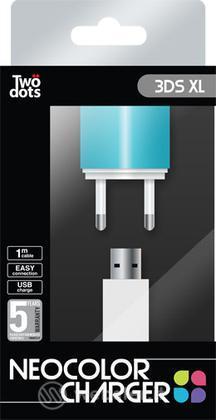TWO DOTS Alimentatore Color Blu 3DS XL