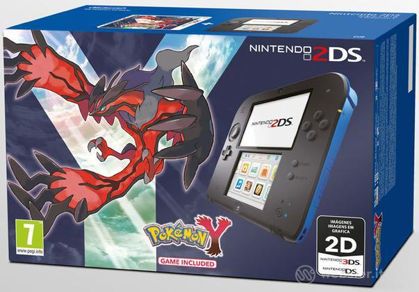 Nintendo 2DS Nero + Blu & Pokemon Y