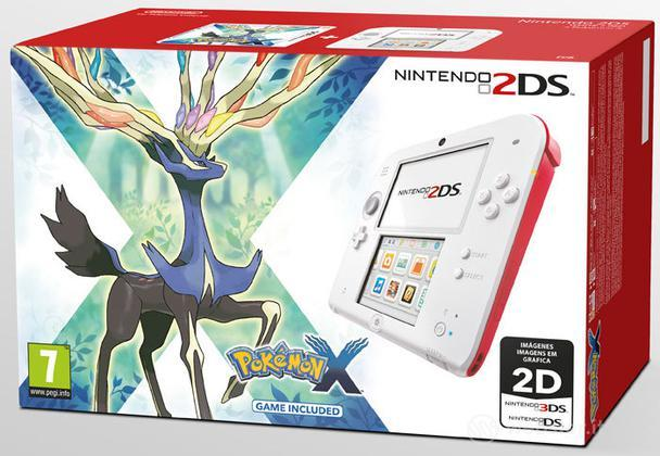 Nintendo 2DS Bianco + Rosso & Pokemon X