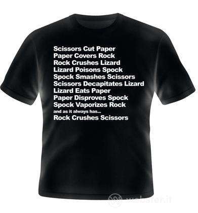T-Shirt RockPaperScissorLizardSpock XXL