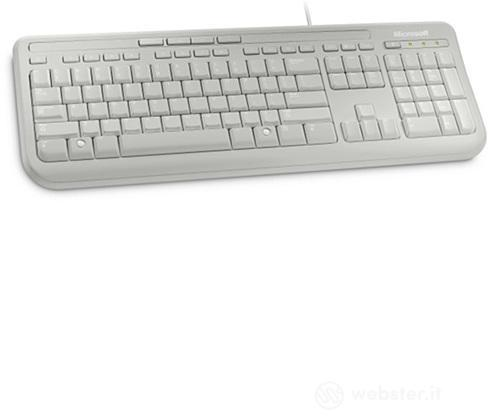 MS Wired Keyboard White 600