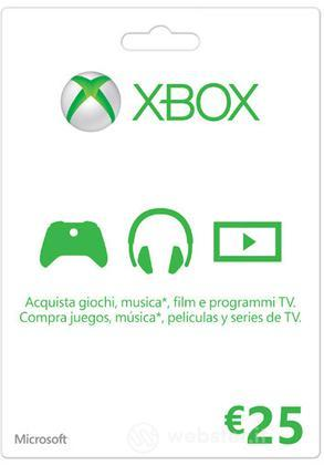 MICROSOFT XBOX Live 25 Euro Card