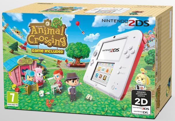 Nintendo 2DS Bianco + Rosso & Animal Cr.