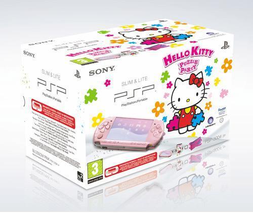 PSP Pink 3000 + Hello Kitty