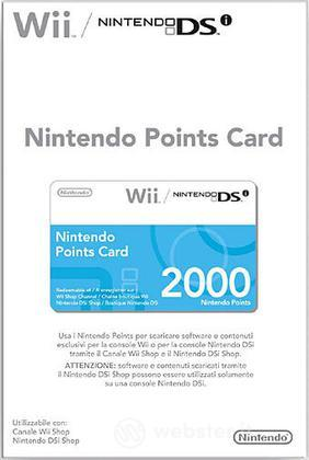 NINTENDO Wii DSi Points Card 2000