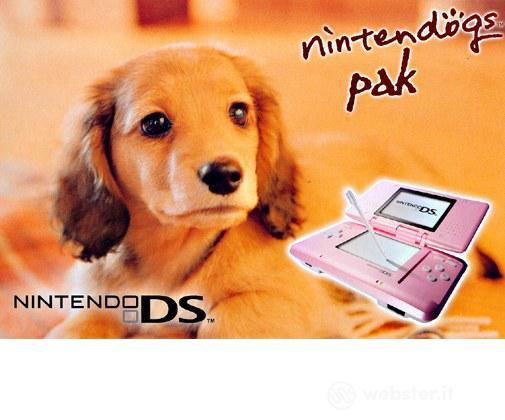 Nintendo DS - Rosa +Nintendogs Dachshund