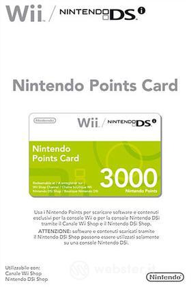 NINTENDO Wii DSi Points Card 3000