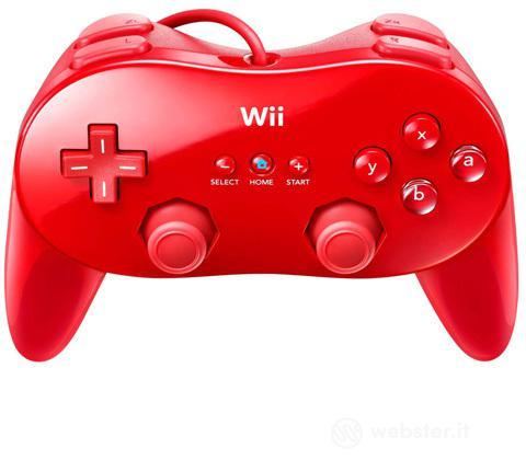 NINTENDO Wii Controller Cls Pro Rosso