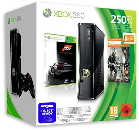 X360 250GB Forza Motorsport 3 e Crysis 2