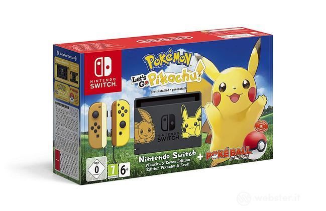 Nintendo Switch+Pokemon LG Pikachu+Pokeb