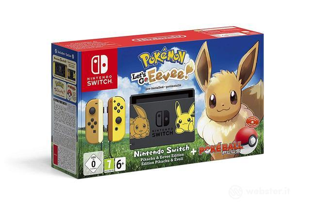 Nintendo Switch+Pokemon LG Eevee+Pokeb.