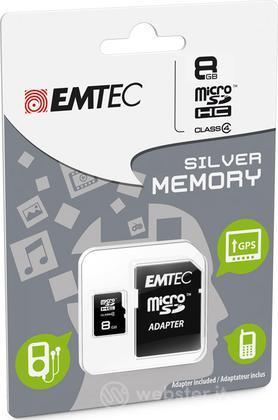 MicroSD + Adapter 8GB Silver (MP3-MP4)