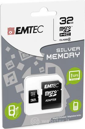 MicroSD + Adapter 32GB Silver (MP3-MP4)