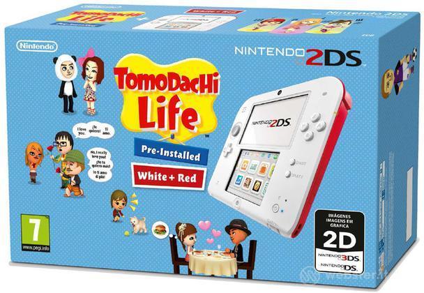 Nintendo 2DS Bianco+Rosso+Tomodachi Life