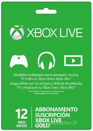 MICROSOFT XBOX Live 12 Mesi Gold Card