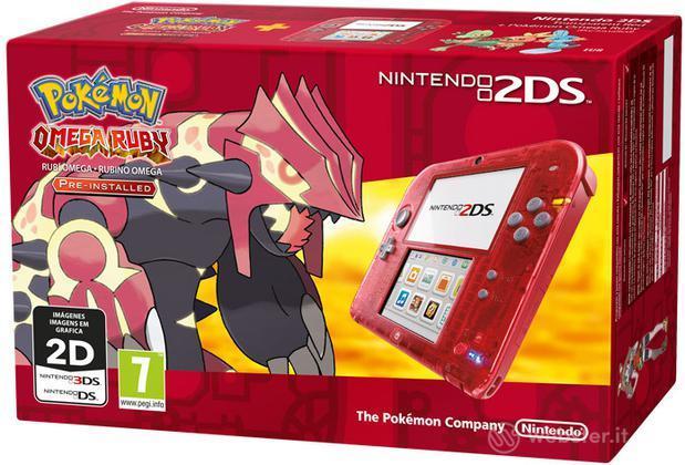 Nintendo 2DS Rosso Trasp.+ Pokemon Omega