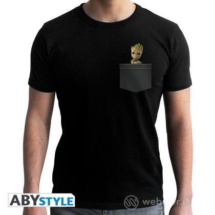 T-Shirt Marvel - Pocket Groot M