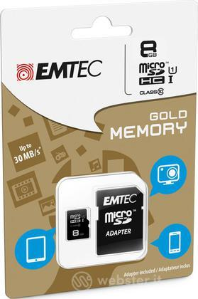 MicroSD + Adapter 8GB Gold(Smartph-Tab)