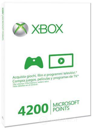 MICROSOFT X360 Live 4200pt Card